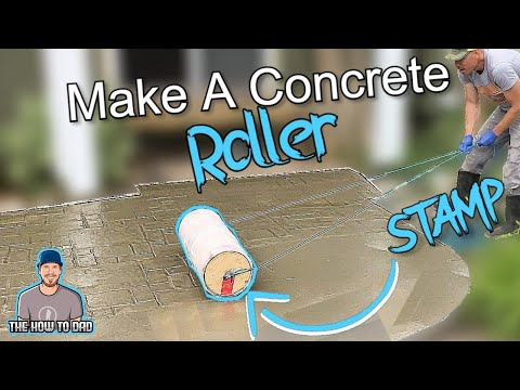 How To Build A Concrete Roller Stamp EASY!!!