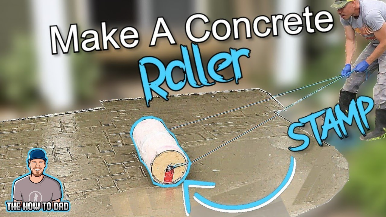 How To Build A Concrete Roller Stamp EASY