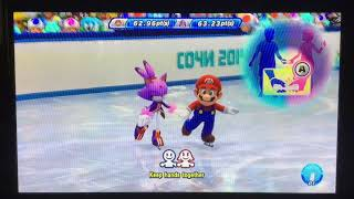 Mario & Sonic at the Sochi 2014 Olympic Winter Games Figure Skating Pairs 298