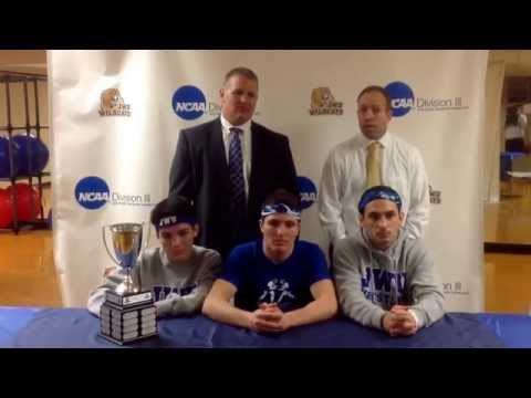 Wrestling Press Conference After Defeating Rhode Island College