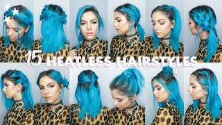 15 QUICK & EASY HEATLESS HAIRSTYLES for Short Hair