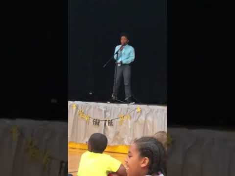 Little boy from Christiana elementary school 3/4 grad talent show can sing lets get him out there