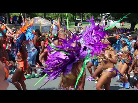 Gorgeous Women Parade at Caribbean Carnival Canada