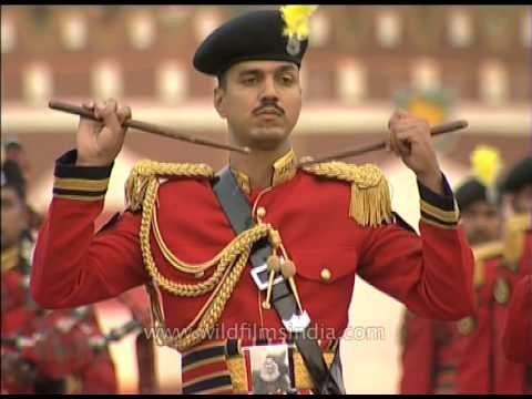 Clickety-clack of drum sticks meeting mid-air: Indian paramilitary BSF band at work