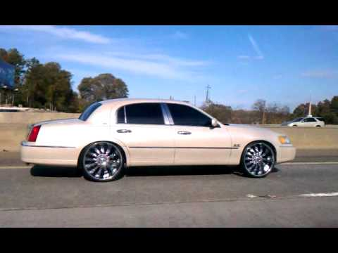 Lincoln Town Car On 24 Quot S Rollin To Atlanta Youtube