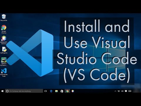 Install And Use Visual Studio Code On Windows 10  (VS Code)