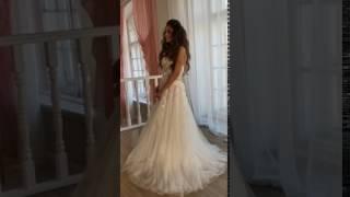 Нежное романтичное свадебное платье