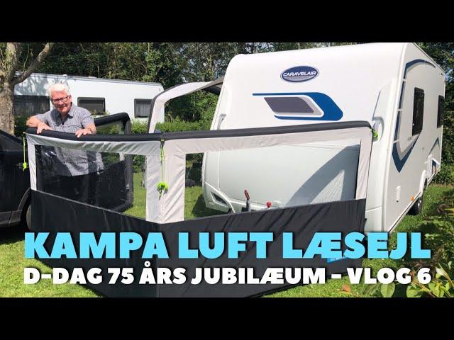 Luft læsejl uden stænger (Kampa Air Break Pro 3) -  Vlog 6