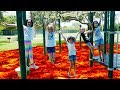 THE FLOOR IS LAVA CHALLENGE at the park with our Friends - Cool Prizes