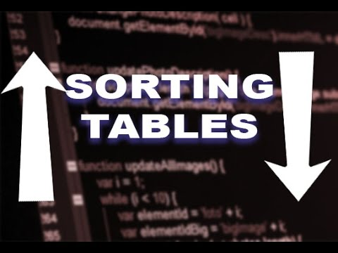 Sorting And Ordering Tables With PHP