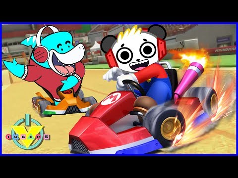VTubers Combo Panda Vs Big Gil Lets Play Mario Kart 8 Best Racing Game Ever