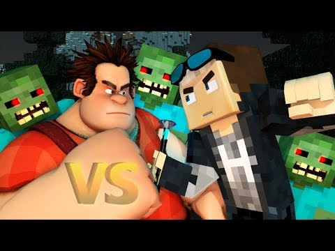 WRECK IT RALPH 2 VS MINECRAFT CHALLENGE! (Official) Ralph Breaks Minecraft Animation Video