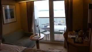 A short tour of Balcony cabin B126 on P&O Arcadia. The cabin is sit...