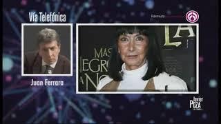 Juan Ferrara revela que Lucía Guilmáin murió sin saber que padecía Covid