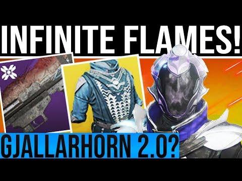 Destiny 2. INFINITE FLAMES WARLOCK BUILD! Is Heretic The Gjallarhorn 2.0??
