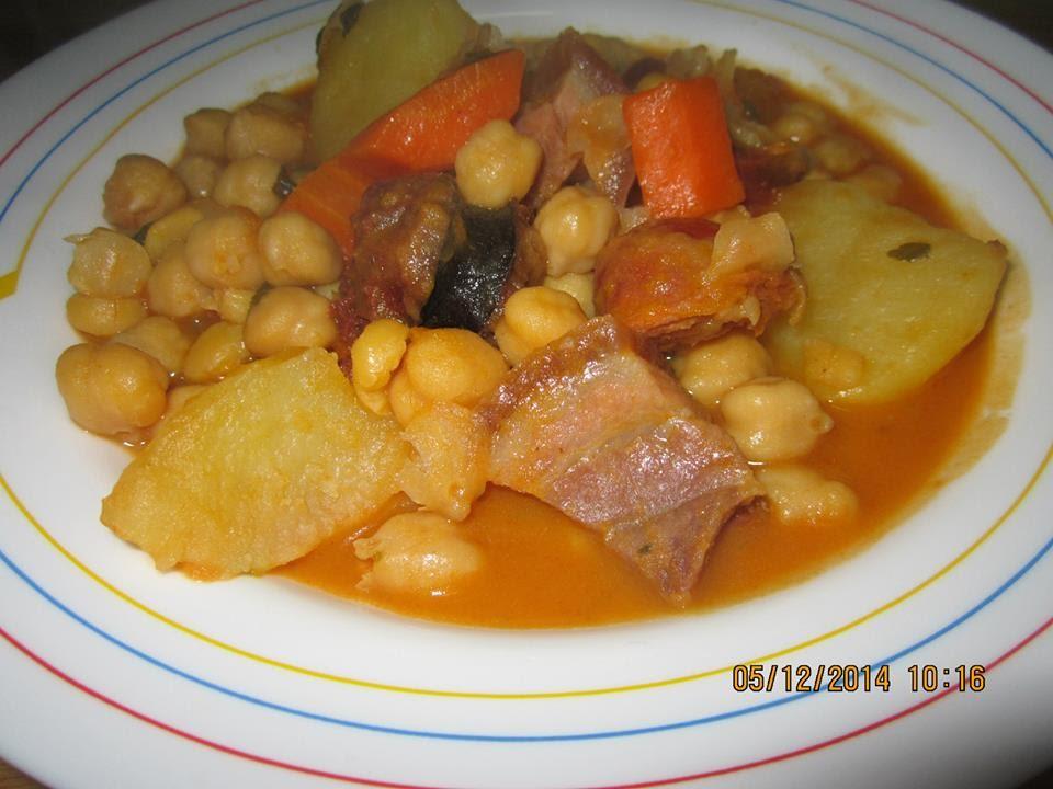Potaje de garbanzos con patatas calabaza y chorizo youtube - Pure de patatas y calabaza ...