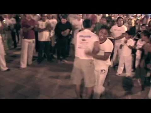OAXACA, MEXICO - Capoeira Brazilian Martial Arts / Dance Demonstration