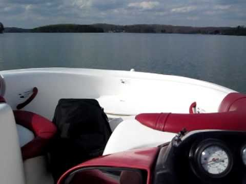 SOLD 1998 Yamaha 18' Exciter twin engine jet boat lake test