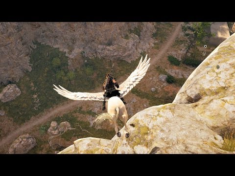 Assassins Creed Odyssey Pegasus Legendary Phobos Skin Gameplay [No Fall Damage Skin] - Watch B4U Buy