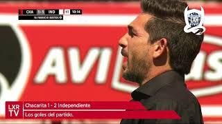 Chacarita 1-2 Independiente | Todos los goles de partido.