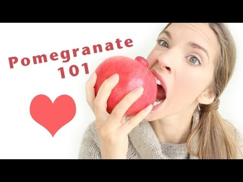 HOW TO PREPARE/OPEN & EAT A POMEGRANATE!
