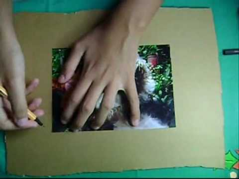 Como hacer un portarretrato de cart n youtube - Como hacer un estor enrollable paso a paso ...