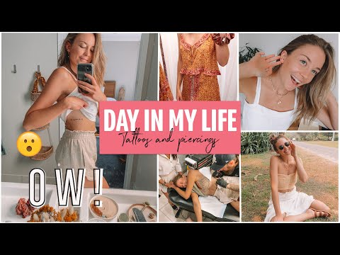 DAY IN MY LIFE ~ My First Tattoo, Ear Piercings & A Day With Friends!!