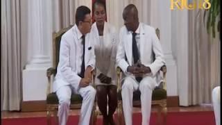 Le Président Jovenel Moïse reçoit les lettres de créance des nouveaux ambassadeurs