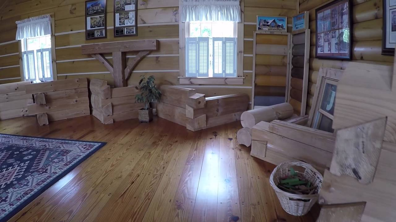 Honest Abe Log Homes Cookeville Model Home - YouTube