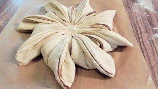 Kwiatek z nutella z ciasta drozdzowego / Kasia ze slaska gotuje