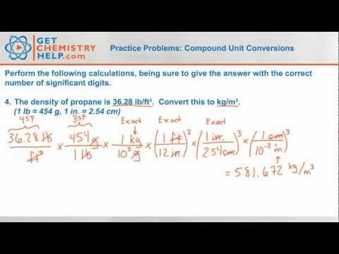Chemistry Practice Problems: Compound Unit Conversions - YouTube