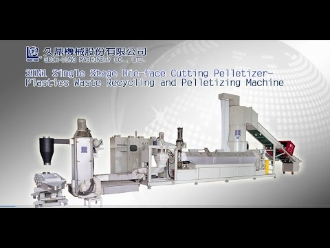 Plastic Pelletizing Machine With 3IN1 Single Stage Die-Face Cutting -GeorDing  Machinery