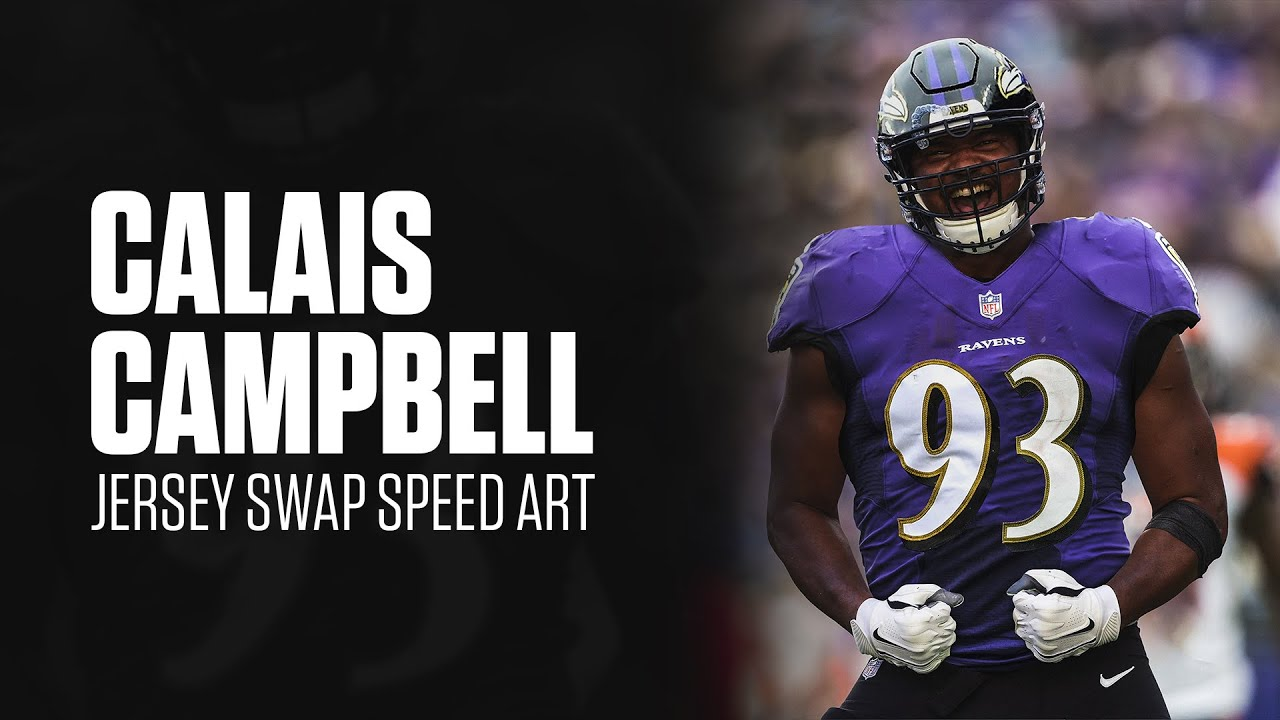 Calais Campbell Ravens Jersey Swap Speed Art