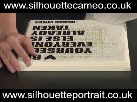 Cutting self-adhesive vinyl with a Plotter/Cutter - Silhouette Cameo