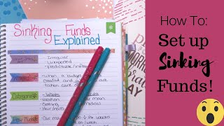 SINKING FUNDS EXPLAINED!! || How To's of Setting Up Sinking Funds || Dave Ramsey Inspired