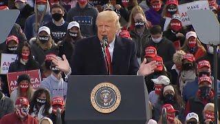 Trump insists US is 'rounding the turn' on coronavirus   US Election 2020
