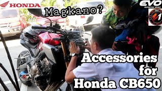 INSTALLING BASIC ACCESSORIES FOR HONDA CB650-R / TANGGAL-KABIT