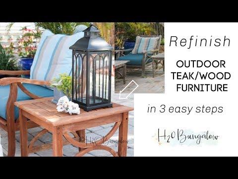 Refinishing Outdoor Teak Wood Furniture in 3 Steps