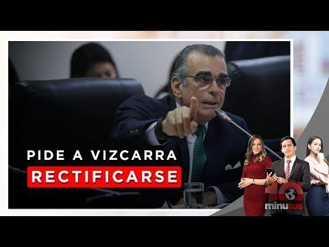 Tía María: Olaechea pide a Vizcarra rectificarse por audios - 10 minutos Edición Tarde