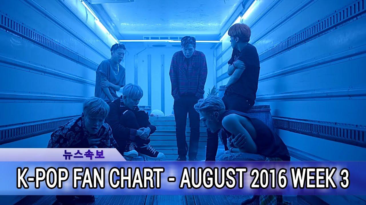 Download [TOP 40] K-POP SONGS CHART - AUGUST 2016 WEEK 3 FAN CHART
