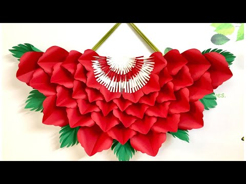 Paper Flower wall hanging | Paper Rose wall art
