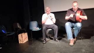 Rolf Wagels and Micheal O hAlmhain, teacher's recital, Craiceann Bodhran Festival 2012