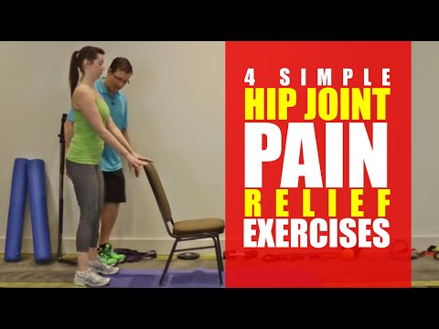 4 SIMPLE Hip Joint Pain Relief Exercises