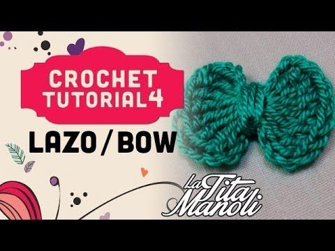 Crochet paso a paso en español - Lazo / Bow - YouTube