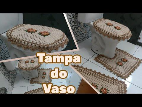 Tampa do vaso (Jogo de banheiro em crochê)