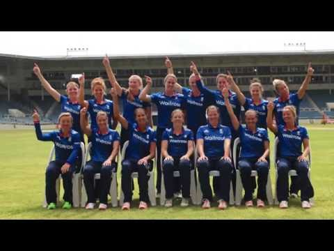 England women's squad photo from Jamaica 2016