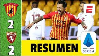 Benevento 2-2 Torino. GOL del peruano Lapadula. Andrés Tello, Ansaldi y Rincón, titulares. | Serie A