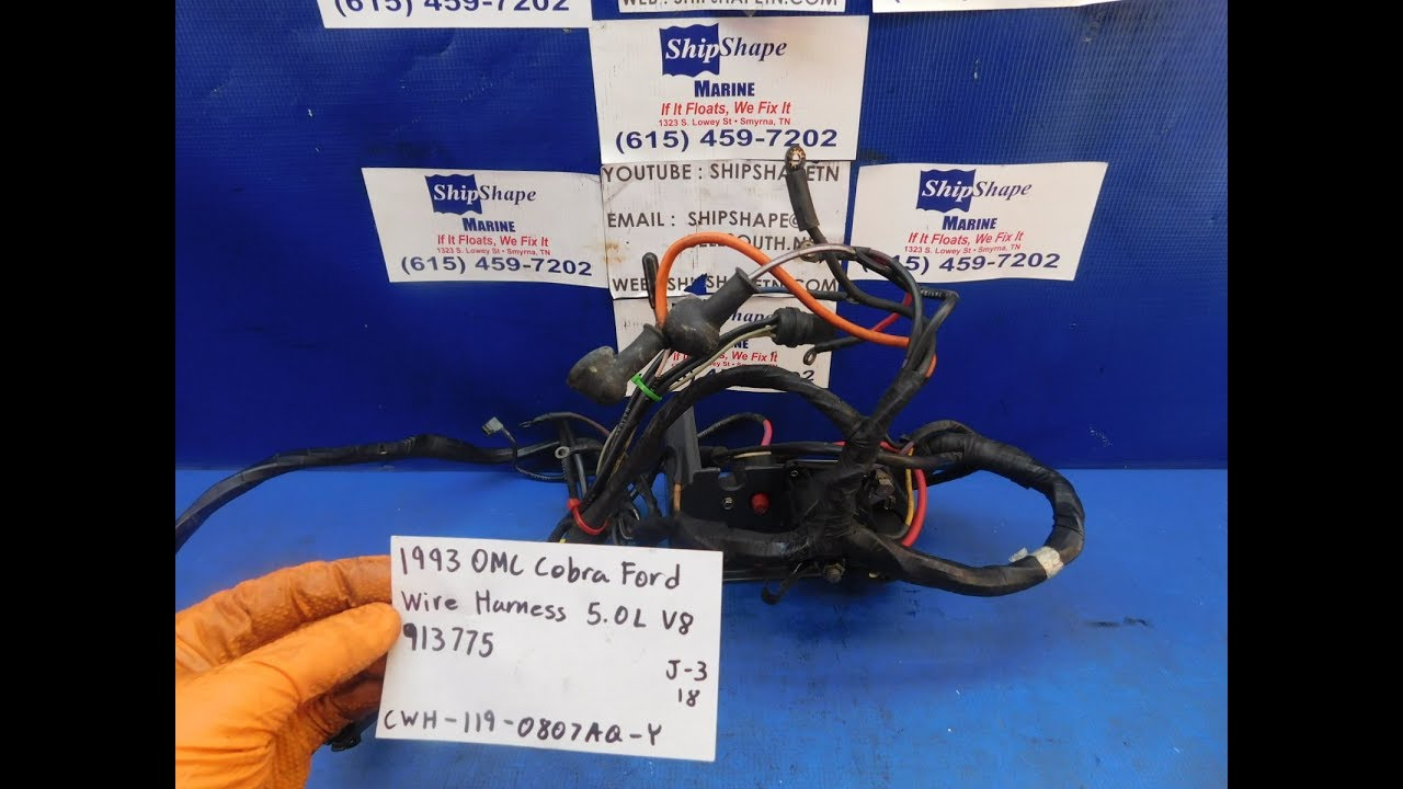 For Sale 1993 Omc Cobra Ford Wire Harness 50l V8 913775 11999 J Wiring 3