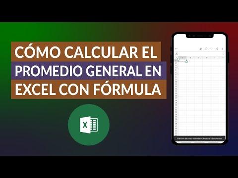 Cómo Calcular o Sacar el Promedio General en Excel con Fórmula - Paso a Paso