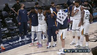 Donovan Mitchell Gets Helped To Locker Room After Awkward Landing